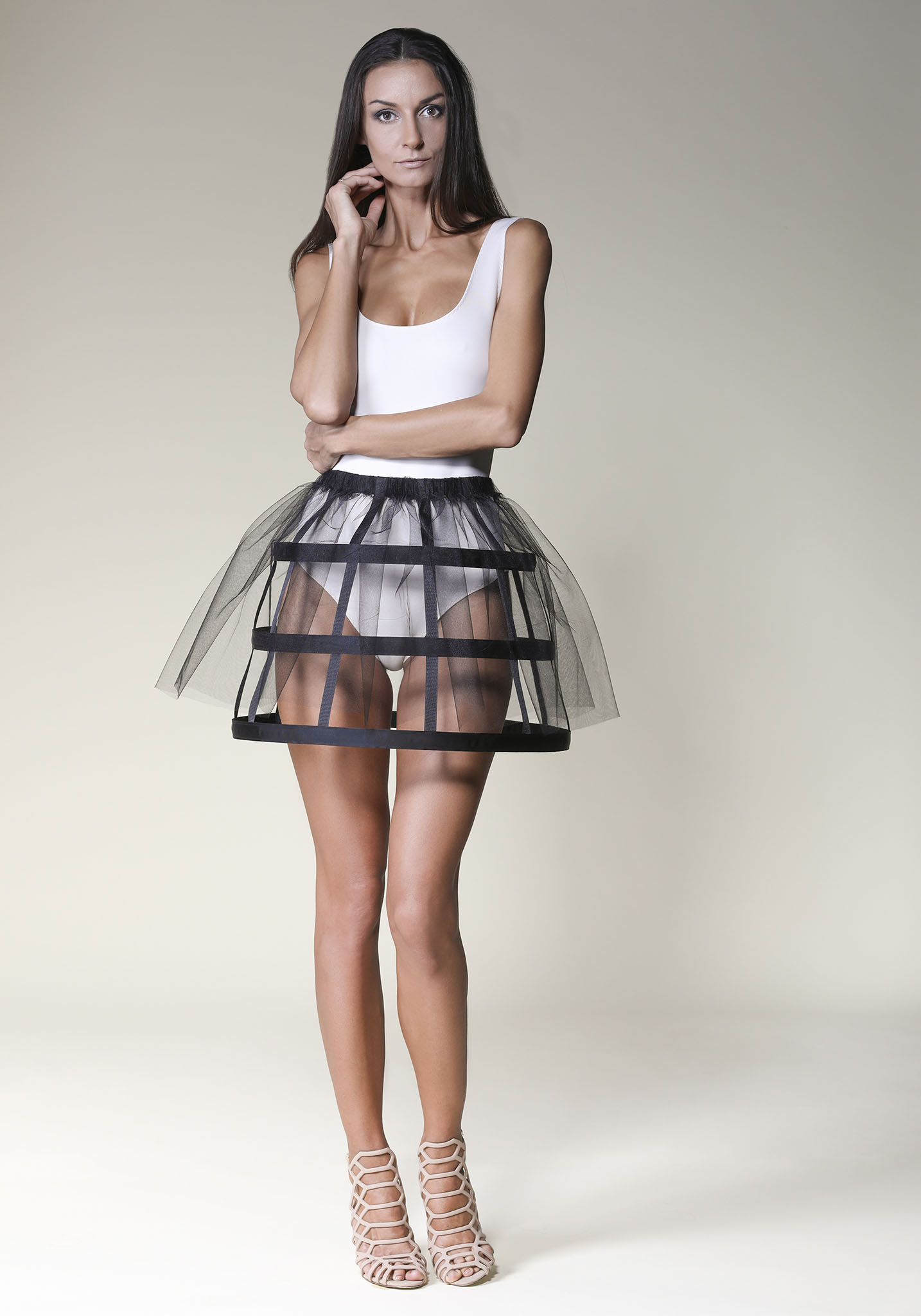 5231540741 Top Tulle Black Cage Skirt - Offeradi