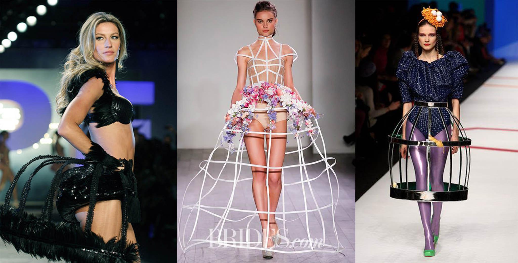 wear cage skirt with underwear