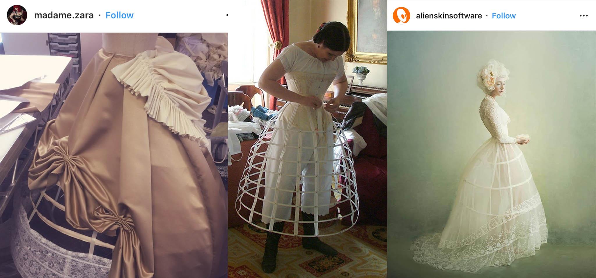 hoop under wedding gown